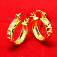 "Nickel /& Lead Free Awesome 9K Yellow Gold Filled /""Caterpillar"" Hoop Earrings"