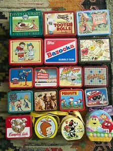 Assorted Small & Large Novelty Metal Lunchboxes -YOU CHOOSE- 1990s Advertising