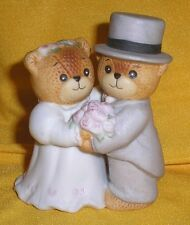 Darling Porcelain Lucy Rigg & Me Wedding Couple Teddy Bears Bride Groom Figurine