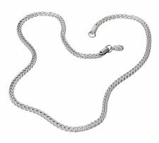 "S.Michael Designs Stainless Steel 22"", 4MM Wheat Necklace"
