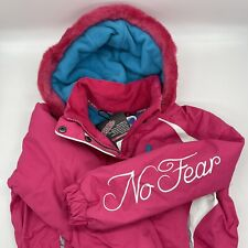 Girls Age 3-4 Ski/Snow suit No Fear Pink with blue lining BNWT