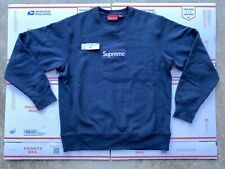 Supreme Box Logo Crewneck Sweater FW18 Navy Size Medium