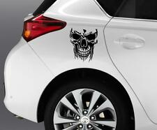 SKULL Dog Car Window Bumper Decal Grpahics Art Novelty Sticker Truck Van B68