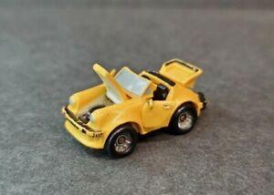 Micro Machines Deluxe Yellow Convertible Porsche 911 **SUN Created**
