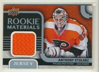 2015-16 Upper Deck Series 2 Rookie Materials Anthony Stolarz Philadelphia Flyers