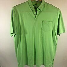 Tommy Bahama Relax Polo Shirt Large Lime Green Pima Cotton Relax Golf