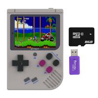 Jeu vidéo rétro, BittBoy V3.5 + 8 GB, console de jeu, SD inclus, 200 Jeux inclus