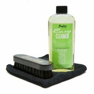 Angelus Easy Cleaner Kit Leder Reinigungsset Lederreiniger Bürste Mikrofasertuch