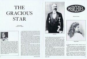"1978 Article - MERCEDES EMBLEM HISTORY ""THE GRACIOUS STAR"""