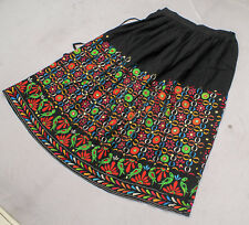 Ethnic Banjara Tribal Boho Gypsy Embroidery India Kuchi Rabari Belly Dance Skirt
