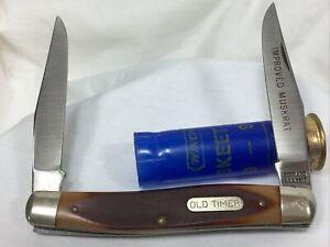 Vintage Schrade Old Timer Muskrat 770T 2 Blade Folding Pocket Knife USA NICE!
