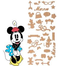 Disney Minnie Mouse Stickers 36pc 3d Cork Decal Bedroom Wall Door Laptop Nursery