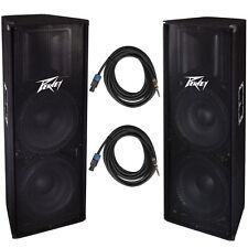 "Peavey (2) PV215 Dual 15"" 2800w PA DJ Speakers + 1/4"" to Speakon Speaker Cable"