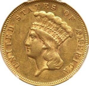 1878 $3 PCGS AU 53 CAC Luster