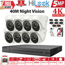 HIKVISION 8MP 5MP CCTV SYSTEM ULTRAHD 4K DVR 4CH 8CH 40M NIGHTVISION CAMERA KIT