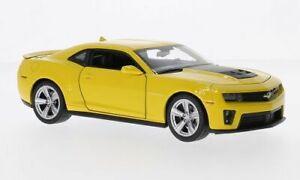 Chevrolet Camaro ZL1, gelb/matt-schwarz, 1:24, Welly