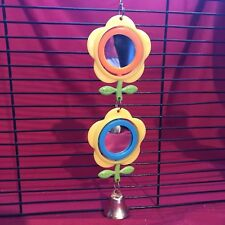 Bird Toy Plastic Mirrors X 2  Flowers InterActive Budgie Canary Finch Cockatiel