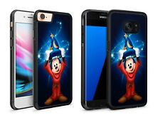 Sorcerer Mickey Mouse Cartoon Wizard Magic Phone Case Cover for iPhone / Samsung