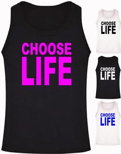 CHOOSE LIFE retro Athletic Vest Tank Top