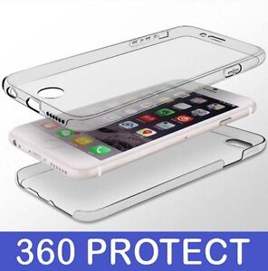 360 Front And Back Full Cover TPU Clear Gel Cover Case For Apple iPhone 8