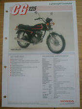 Honda CG125 Lightweight Commuter brochure 1985