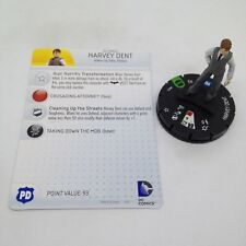 Heroclix Batman: Streets of Gotham set Harvey Dent #022 Uncommon figure w/card!