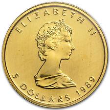 1989 Canada 1/10 oz Gold Maple Leaf BU - SKU #84230
