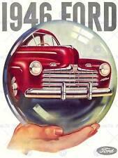 ADVERT 1945 FORD RED CAR BUBBLE NEW FINE ART PRINT POSTER CC2677