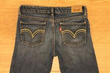 Levi's Girls denim jeans Legging Adjustable Sz 14 Reg W-28 L-28 EUC