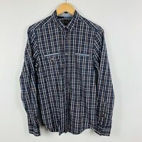Ben Sherman Mens Button Up Shirt Size Small Long Sleeve Plaid Smart Casual