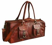 Bag Leather Travel Unisex Adult Duffel Overnight Duffle Luggage Gym Weekend Tote