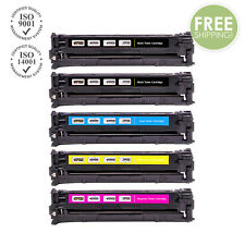 5 PK CE320A - CE323A 128A Color Toner For HP LaserJet Pro CM1415FNW CP1525NW