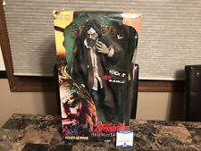 """Rob Zombie Rare Signed 18"""" Art Asylum Action Figure Hellbilly Deluxe White + BAS"""