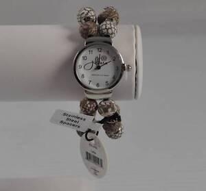 Jilzara Latte Round Watch Polymer Clay Beads Handcrafted Artisan Jewelry P3