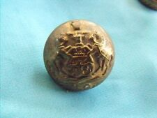 ORIGINAL SCARCE PENNSYLVANIA GUARD TUNIC BUTTON INDIAN WARS SPAN AM ALBERT PA25