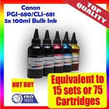 Canon Bulk Ink cartridge refill 5x100ml PGI-680 CLI-681 TR7560/TR8560/TS6160