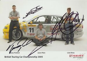 Pickford, Plato, Hines Hand Signed Promo Card - Touring Cars Autograph SEAT.