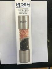 EPARE Dual 2 in 1 Salt and Pepper Mill Grinder BRAND NEW IN BOX, UNOPENED