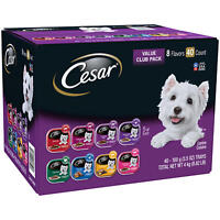 Cesar Canine Cuisine Wet Dog Food, 8 Flavor Variety Pack Classic Loaf in Sauce