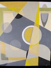 """LISTED ARTIST painting ABSTRACT """"Early Spring"""" Titled fine art Dr. B. Gross"""