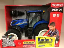 Tomy 43156A1 New Holland T7.720 Realistic Lights and Sounds Tractor Toy - New