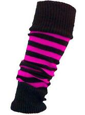 DELUXE 1980's NEON LEG WARMERS STRIPE OR PLAIN LADIES FANCY DRESS TUTU LEGWARMER