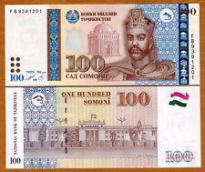 Tajikistan, 100 Somoni, 1999 (2013), Ex-USSR, P-27, Enhanced, UNC