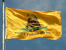 DON'T tread on Me Gadsden 3x5 foot embroidered NYLON FLAG with Lapel Pin