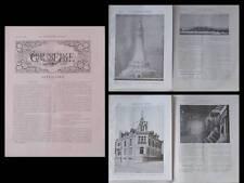 LA CONSTRUCTION MODERNE n°41 1908 GRENOBLE, CHATROUSSE RICOUD, TELEGRAPHE SAIGNE