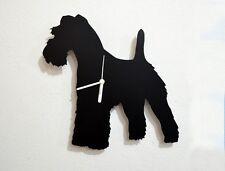 Kerry Blue Terrier Dog Silhouette - Wall Clock