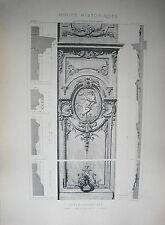 GRANDE PLANCHE XX° ARCHITECTURE STYLE LOUIS XIV BAROQUE PORTE RUE DU BAC PARIS