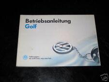 Betriebsanleitung VW Golf III / 3 von 1993