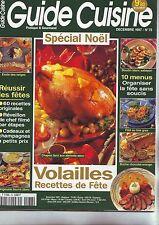guide cuisine special noel  - menus et recettes --