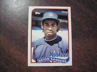 """DEION SANDERS """" PRIME TIME """" 1989 TOPPS TRADED SET ROOKIE CARD 110T ROOKIE RC **"""